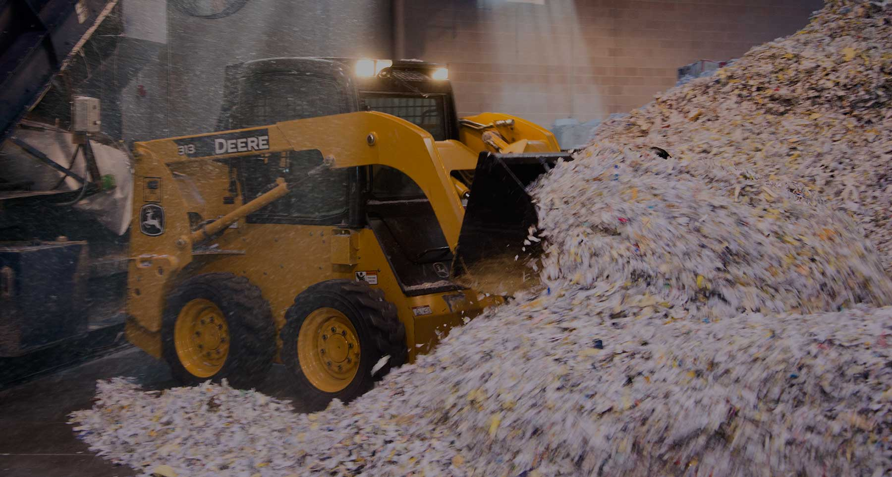 industrial shredding bulldozer